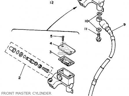 Yamaha Yz250 1986 (g) Usa parts list partsmanual partsfiche