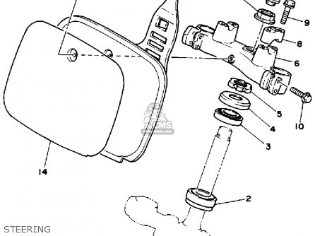 Yamaha YZ250 1986 (G) USA parts lists and schematics