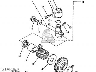 Yamaha YZ250 1989 3JE1 EUROPE 293JE-300E1 parts lists and