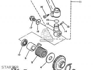Yamaha YZ250 1989 3JE1 EUROPE 293JE-300E1 parts lists and