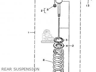 Yamaha YZ250 1990 3SP3 JAPAN 203SP-100E1 parts lists and