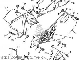 Yamaha YZ250 1994 4JX3 JAPAN 244JX-100E1 parts lists and