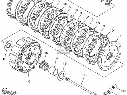 Yamaha Yz250 2002 (2) Usa parts list partsmanual partsfiche