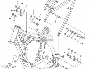 Yamaha YZ250 2002 5NX2 FRANCE 1A5NX-100E2 parts lists and