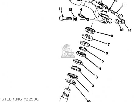 Yamaha YZ250 COMPETITION 1976 USA parts lists and schematics