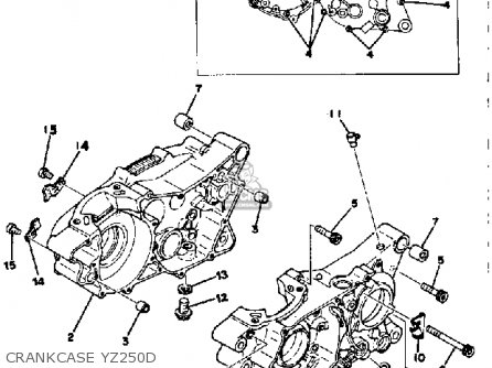 Yamaha YZ250 COMPETITION 1977 USA parts lists and schematics