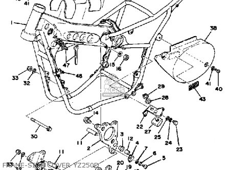 Yamaha Yz250 Competition 1977 Usa parts list partsmanual
