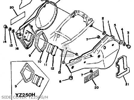 Yamaha Yz250 Competition 1980 (a) Usa parts list
