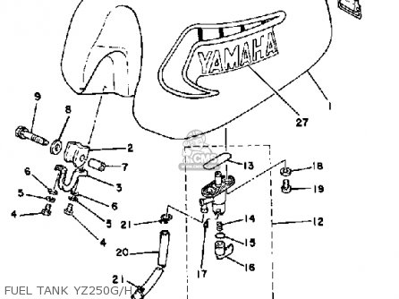 Yamaha Yz250 Competition 1981 (b) Usa parts list