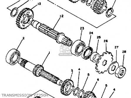 Yamaha Yz250 G Competion 1980/1981 parts list partsmanual