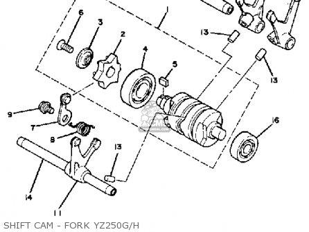 Yamaha Yz250 H Competion 1980/1981 parts list partsmanual
