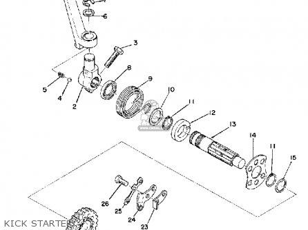 Yamaha Yz250a 1974 parts list partsmanual partsfiche