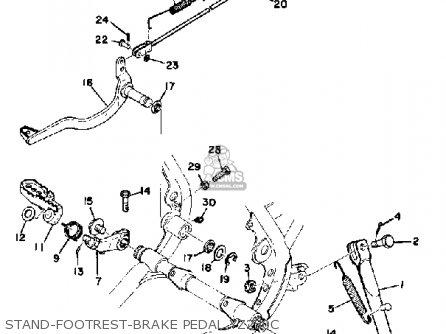 Yamaha Yz250c Competition 1976-1978 parts list partsmanual