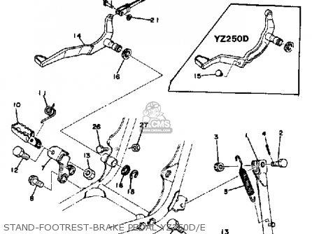 Yamaha Yz250e Competition 1976-1978 parts list partsmanual