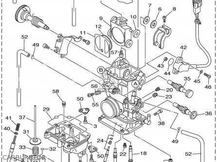 Yamaha Yz250fn 2001 parts list partsmanual partsfiche