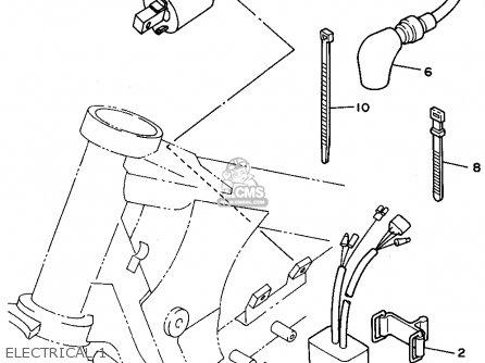 Yamaha Yz250g1 1995 parts list partsmanual partsfiche