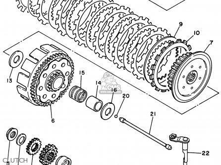 Yamaha Yz250h1 1996 parts list partsmanual partsfiche