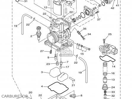 Yamaha Yz250m1 2000 parts list partsmanual partsfiche