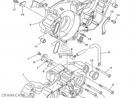 Yamaha Yz250n1 2001 parts list partsmanual partsfiche