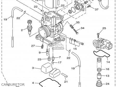 Yamaha Yz250p 2002 parts list partsmanual partsfiche