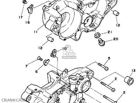 Yamaha Yz250t Competition 1987 parts list partsmanual