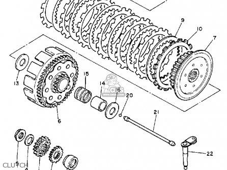 Yamaha Yz250u Competition 1988 parts list partsmanual