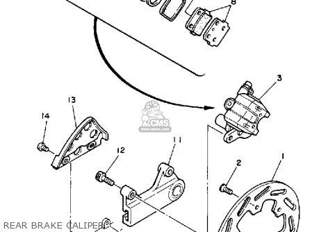 Yamaha Yz250w Competition 1989 parts list partsmanual