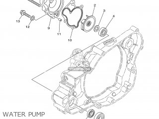 Yamaha YZ250W1 2007 1P89 CANADA 1F1P8-100E1 parts lists