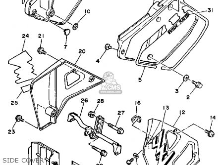 Yamaha YZ250WR 1989 (K) USA parts lists and schematics