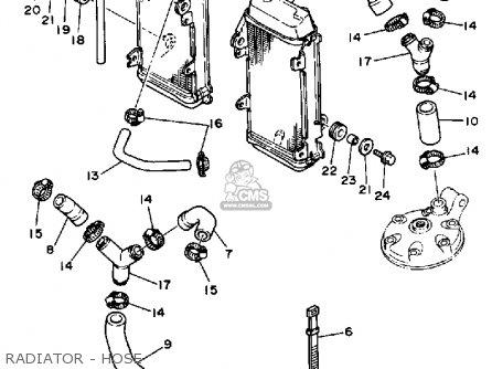 Yamaha Yz250wrw 1989 parts list partsmanual partsfiche