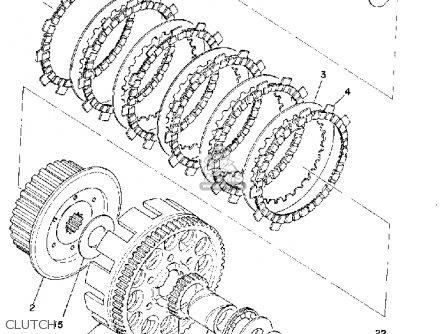 Yamaha Yz360 1974 Usa parts list partsmanual partsfiche