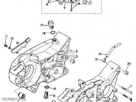 Yamaha Yz360 1974 Usa parts list partsmanual partsfiche