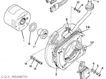 Yamaha Yz360 1975 Usa parts list partsmanual partsfiche