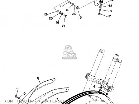 Yamaha YZ360 1975 USA parts lists and schematics