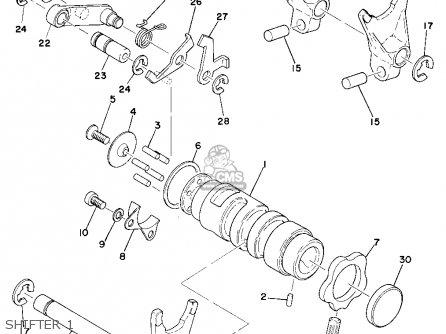 Yamaha YZ360 1975 USA parts lists and schematics
