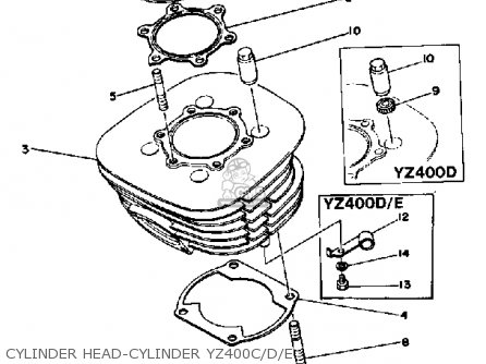 Yamaha YZ400 COMPETITION 1976 USA parts lists and schematics