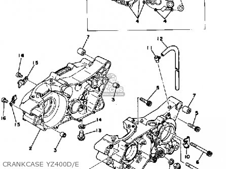 Yamaha YZ400 COMPETITION 1977 USA parts lists and schematics