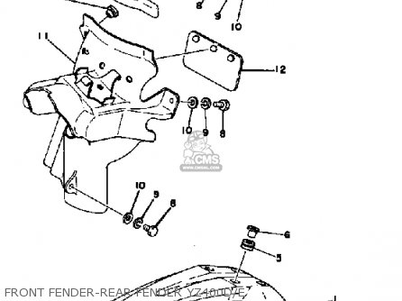Yamaha YZ400 COMPETITION 1978 USA parts lists and schematics