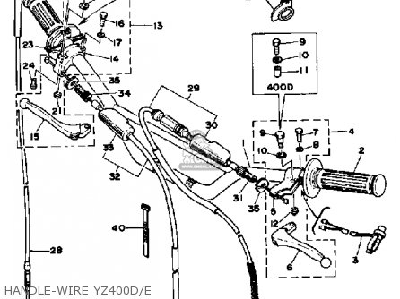 Yamaha Yz400e Competition 1976-1978 parts list partsmanual