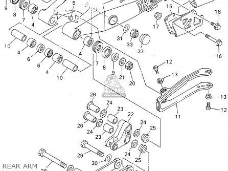 Yamaha Yz426f Competition 2001 (1) Usa parts list