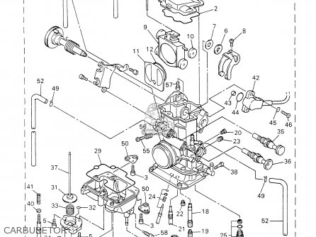 Yamaha Yz426fp 2002 parts list partsmanual partsfiche
