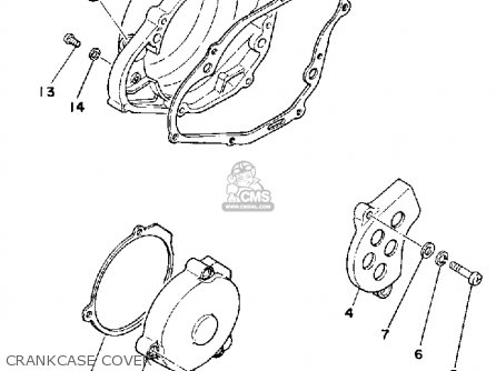 Yamaha YZ465 1980 (A) USA parts lists and schematics