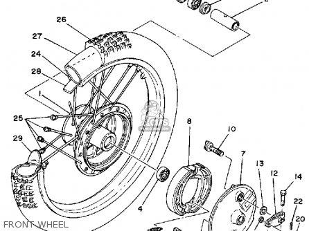 Yamaha YZ465 1980 (A) USA parts lists and schematics