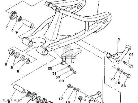 Yamaha Yz465 1980 (a) Usa parts list partsmanual partsfiche