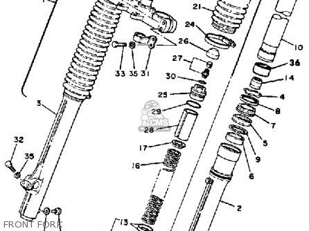 Yamaha Yz465h Competition 1981 parts list partsmanual