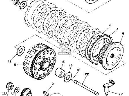Yamaha YZ490 COMPETITION 1984 (E) USA parts lists and