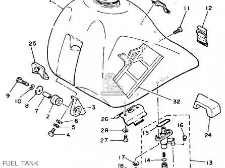 Yamaha Yz490 Competition 1985 (f) Usa parts list