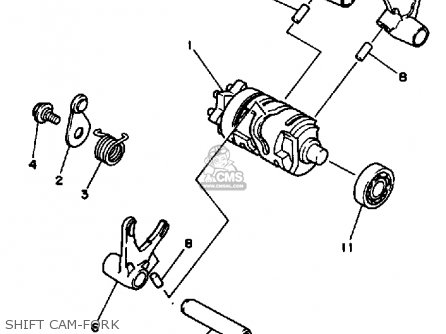Yamaha Yz490 Competition 1986 (g) Usa parts list