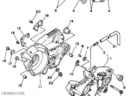 Yamaha YZ490 COMPETITION 1988 (J) USA parts lists and