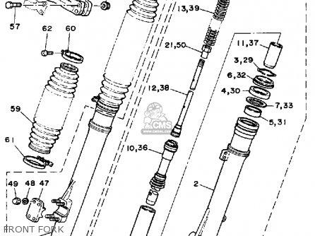 Yamaha Yz490 Competition 1988 (j) Usa parts list